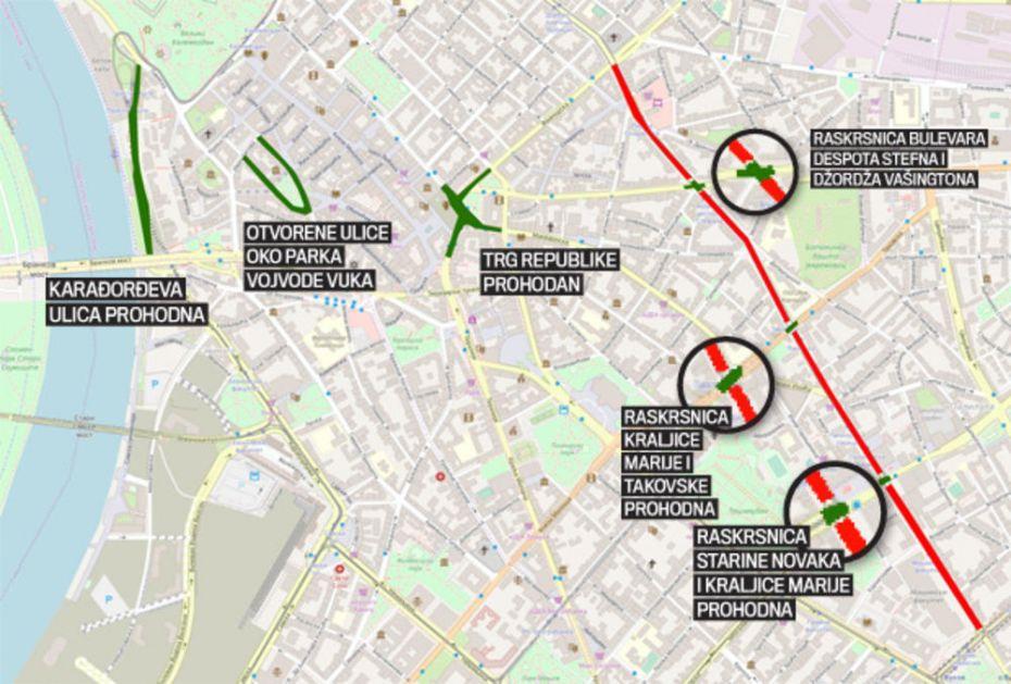 Najtacnija Mapa Prohodnosti Ulica Evo Kako Da Izbegnete Guzve U