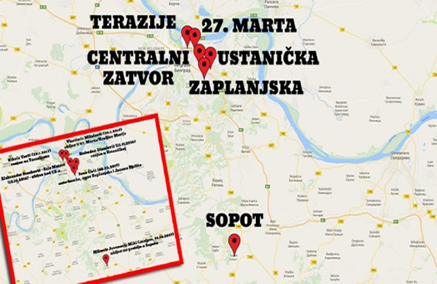 centralni zatvor beograd mapa NARKO RAT NA ULICAMA BEOGRADA Mapa atentata poslednjih meseci sve  centralni zatvor beograd mapa