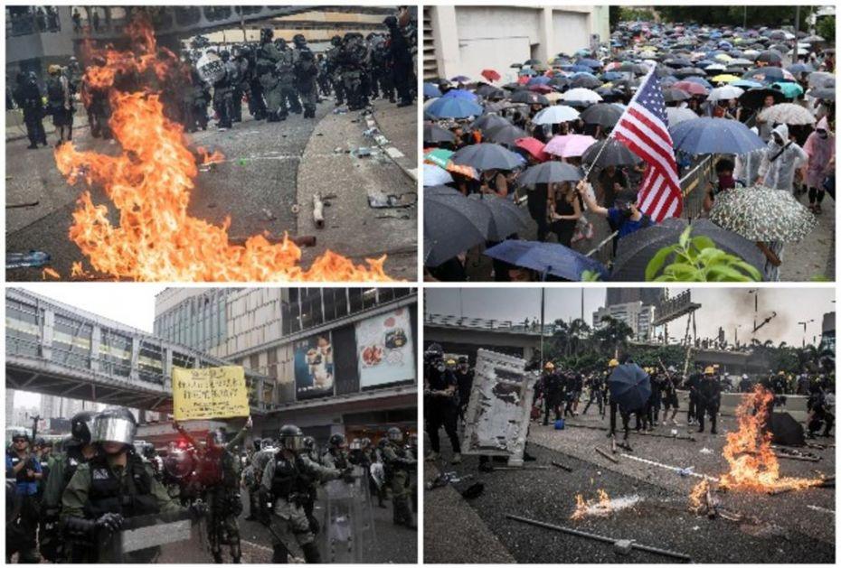 NASTAVLJENI PROTESTI U HONGKONGU: Demonstranti bacali Molotovljeve koktele na policiju, dobili suzavac zauzvrat!