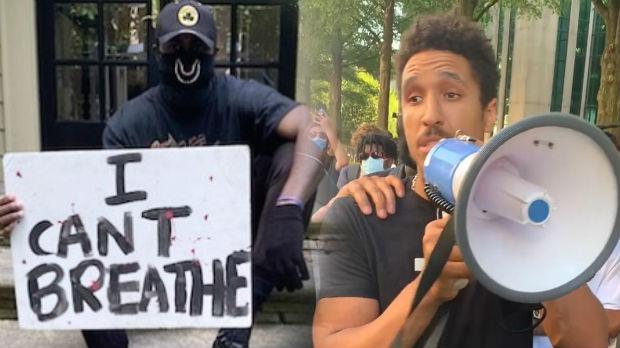 NBA igrači protestuju na ulicama, Brogdon i Braun sa megafonom u rukama