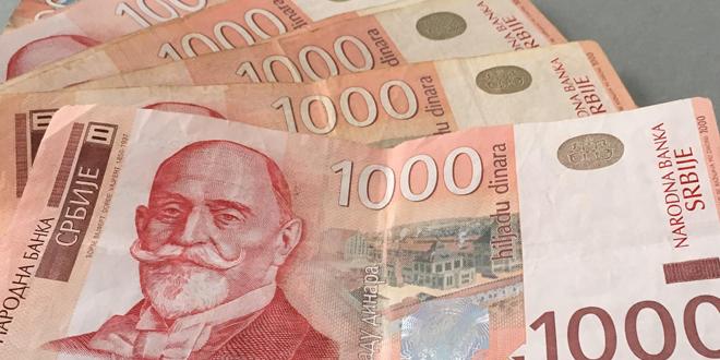 NBS prodala 15 miliona evra, kurs 117,55