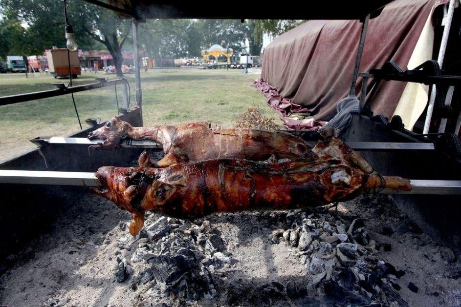 NEMCI U ŠOKU: Tri muškarca pekla svinje u podrumu zgrade, prijavio ih komšija! Intervenisali i vatrogasci