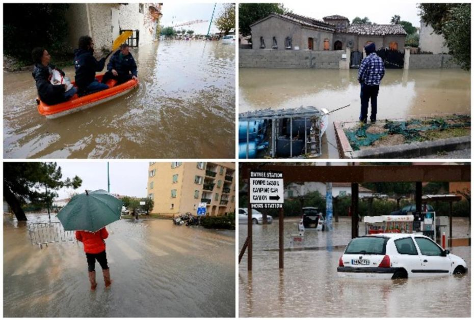 NEVREME I DALJE HARA PO ITALIJI I FRANCUSKOJ: Troje poginulo u poplavama, deo auto-puta odnelo klizište (FOTO, VIDEO)