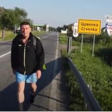 NI KORONA, NI ŽULJEVI, NITI ŽEĐ ga nisu sprečili u poduhvatu: Dragiša pešačio 230 km, ali od cilja NIJE ODUSTAO (VIDEO)