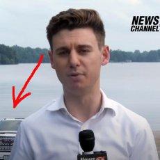 NIJE IMAO POJMA! Dok je novinar izveštavao, iza njega se odigravala prava KATASTROFA! (VIDEO)