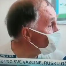 NIŠLIJA NASMEJAO ČITAVU SRBIJU: Novinar ga pitao koju je vakcinu primio, a njegov odgovor tera suze na oči (VIDEO)