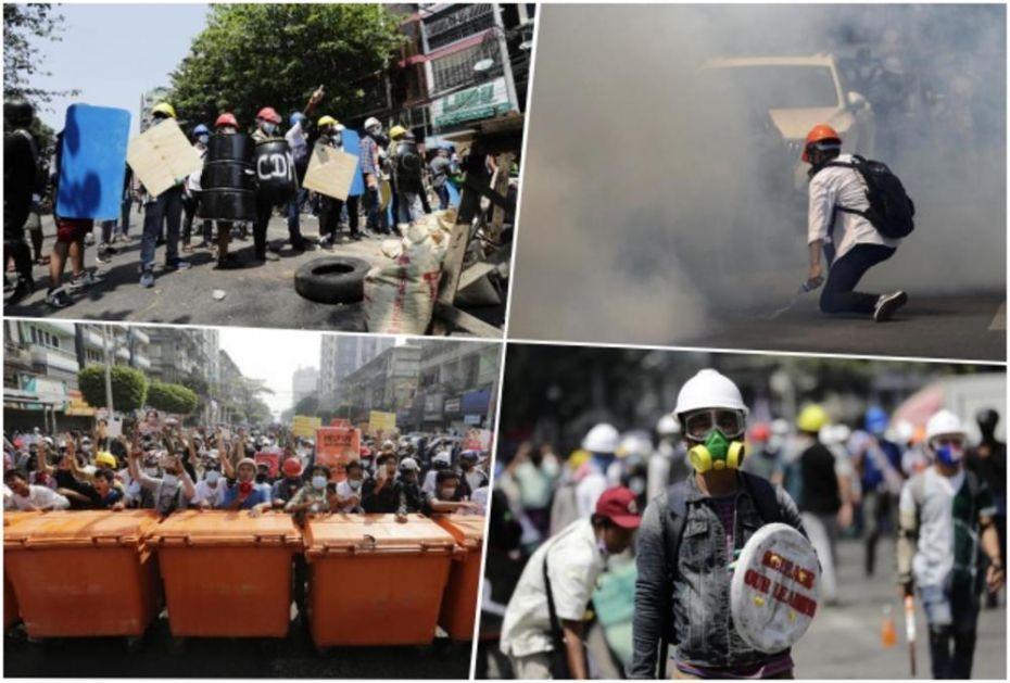 NOVE ŽRTVE U MJANMARU: Policija ubila 18 demonstranata, protesti ne jenjavaju (FOTO)