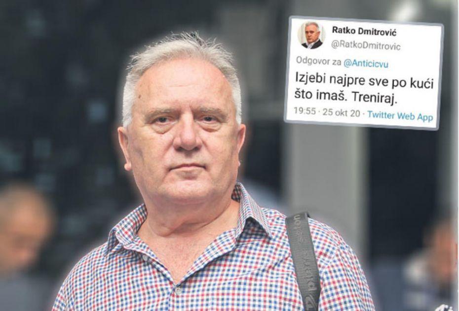 NOVI MINISTAR U FAJTU S TVITERAŠIMA, PALE I PSOVKE: Ratku Dmitroviću burno počinje mandat