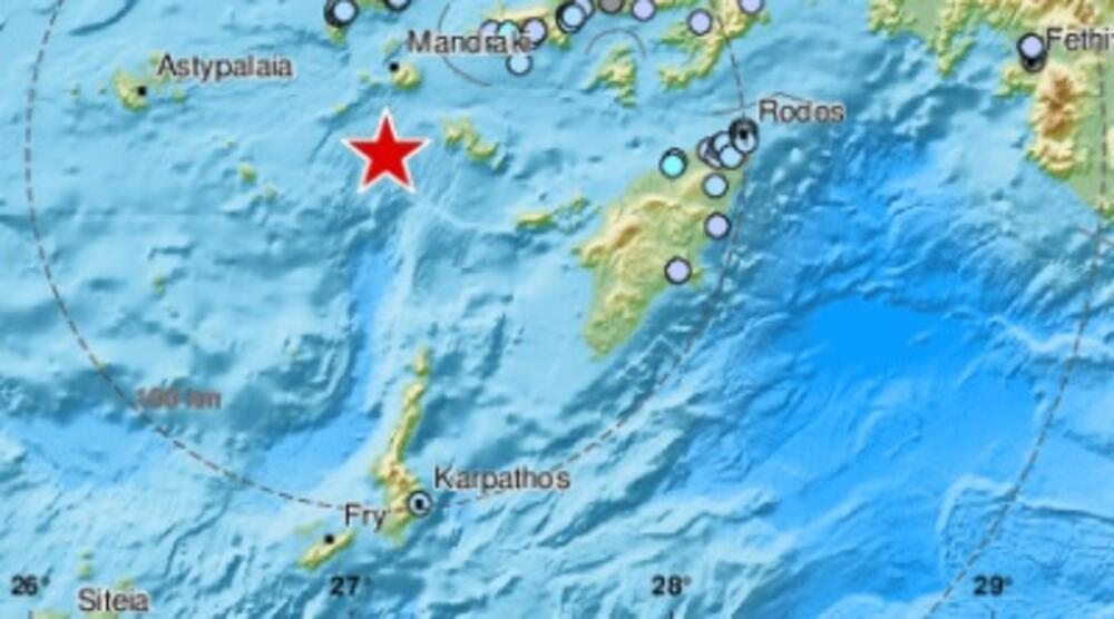 NOVI ZEMLJOTRES NA GRČKIM OSTRVIMA: Potres jačine 4,9 stepeni kod ostrva Kos! Osetio se i u Turskoj!