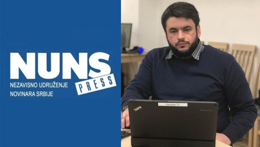 NUNS osudio napad na novinara Fetića u zgradi BNV u Novom Pazaru