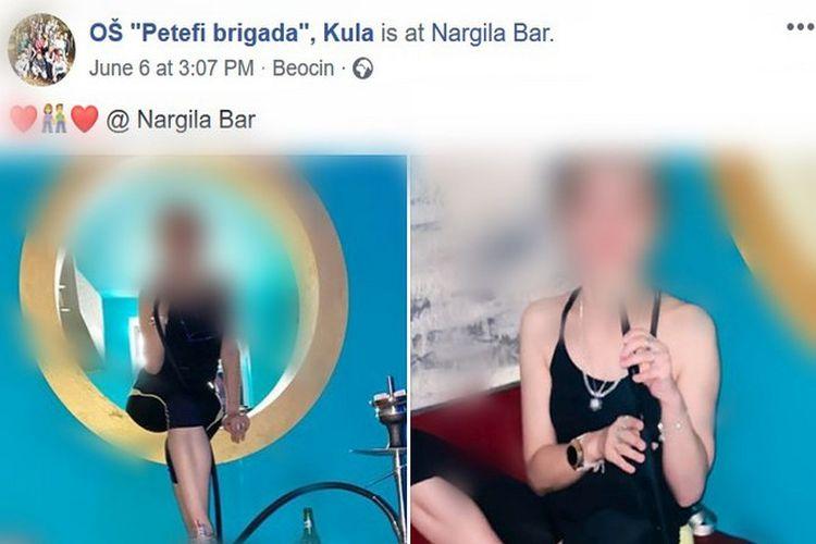 Na Fejsbuk stranici osnovne škole iz Kule osvanule fotografije nastavnice iz nargila bara