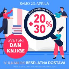 Na Svetski dan knjige sva izdanja Vulkan izdavaštva na popustu od 20% + 30%: Samo na sajtu www.vulkani.rs uz besplatnu dostavu