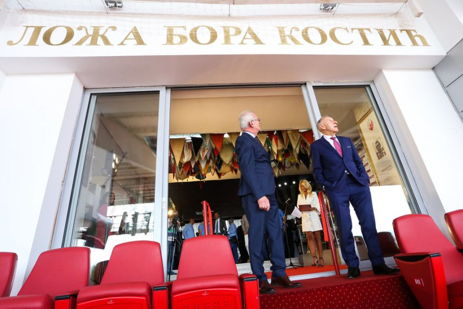 Na Zvezdinom stadionu otvorena loža Bora Kostić