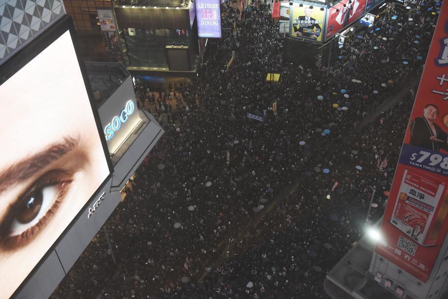 Na ulicama Hong Konga demonstriralo 800.000 ljudi
