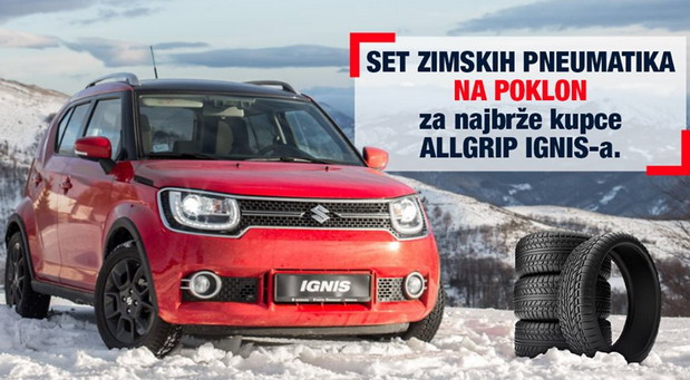 Najbržim kupcima Suzuki Ignisa ALLGRIP na poklon set zimskih pneumatika