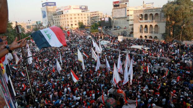 Najmasovniji protest u Bagdadu od početka demonstracija