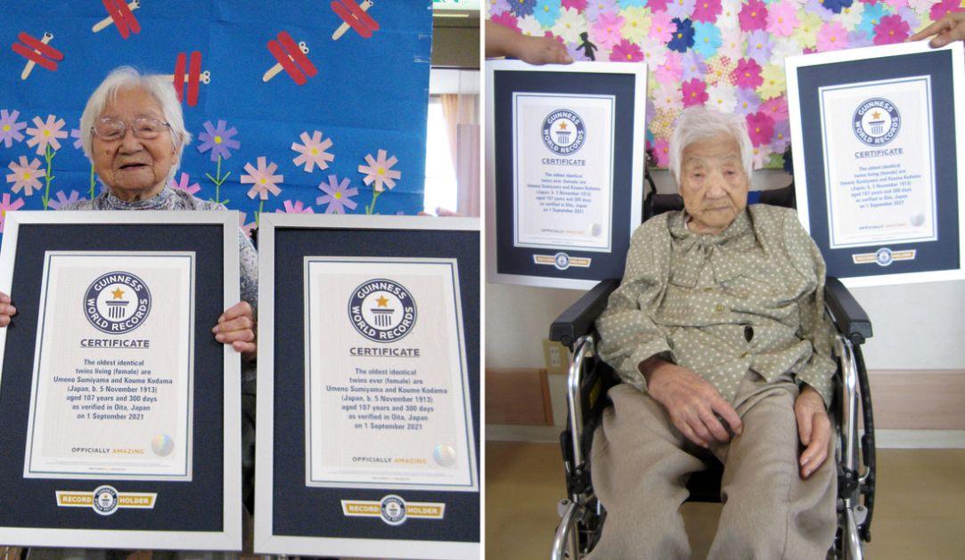 Najstarije bliznakinje na svetu iz Japana i imaju 107 godina