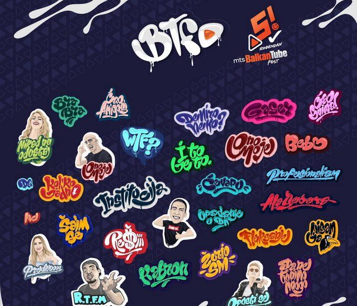 Najveće Youtube zvezde regiona slave 5. rođendan Balkan Tube Festa uz spektakularne Viber stikere