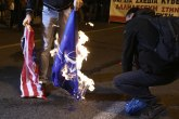Napolje SAD, NATO i njihove baze i okrvavljena grčka zastava FOTO/VIDEO