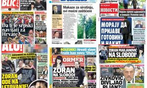 Naslovne strane dnevnih listova: Prelistavanje štampe za 13. jul 2018. godine!