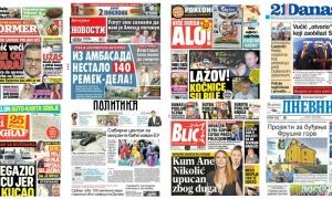 Naslovne strane dnevnih listova: Prelistavanje štampe za 14. jun 2018. godine