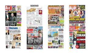 Naslovne strane dnevnih listova: Prelistavanje štampe za 14. septembar 2017. godine!