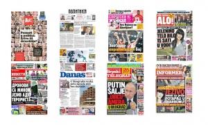 Naslovne strane dnevnih listova: Prelistavanje štampe za Srpsku novu godinu!