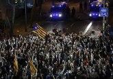 Nastavljeni neredi i sukobi: Separatisti na ulicama Barselone VIDEO