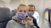 Navaljni na putu za Rusiju: Uhapsiće me? Pa ja sam nevina osoba VIDEO