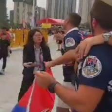 Navijači Srbije ZAGRMELI ispred hale! Kinezi oduševljeno dizali TRI PRSTA! (VIDEO)