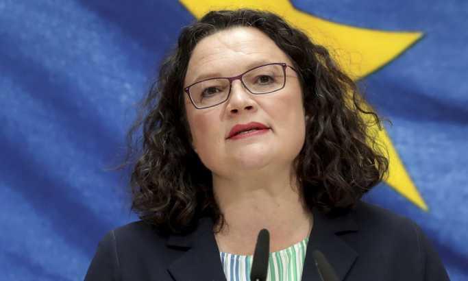 Nemačka: Lider SDP, Andrea Nales najavila ostavku