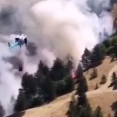Neumorno su se uhvatili u koštac i sa požarom na Mokroj Gori: Pilotima srećna slava! (VIDEO)