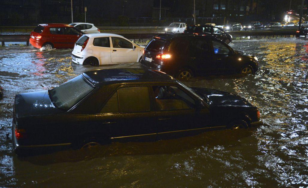 Nevreme u Trsteniku, poplavljene ulice