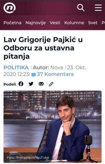 #NijeNjuz: Lav Grigorije Pajkić u Odboru za ustavna pitanja