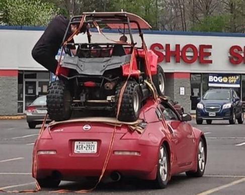 No comment: Nissan 350Z kao transporter