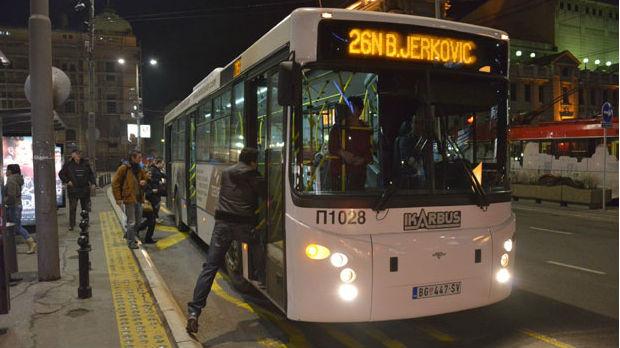 Noćni prevoz od večeras u Beogradu