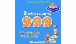 Nova Vulkančić letnja akcija: 3 knjige za 999 rsd!