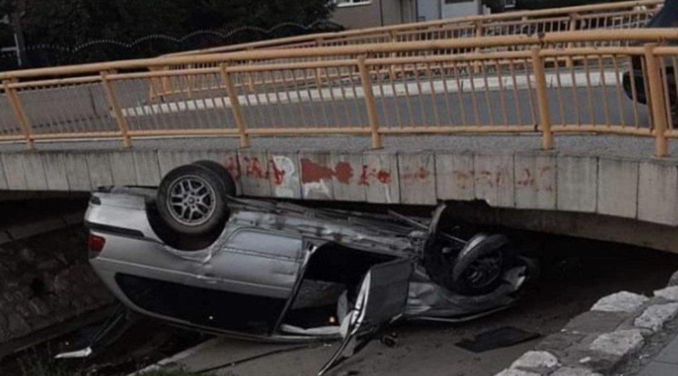 Novi Pazar: Automobil upao u korito rijeke Jošanice
