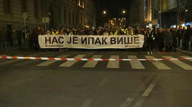 Novi protest Jedan od pet miliona posvećen Oliveru Ivanoviću