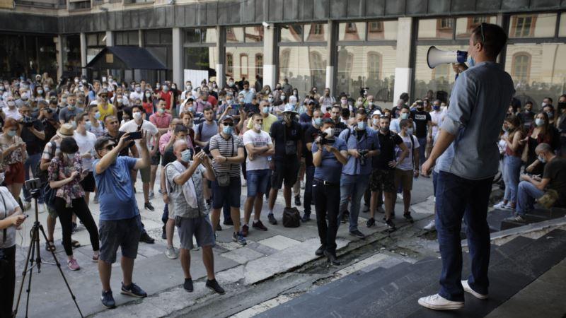 Protest studenata u Beogradu, podrška rektorke Univerziteta