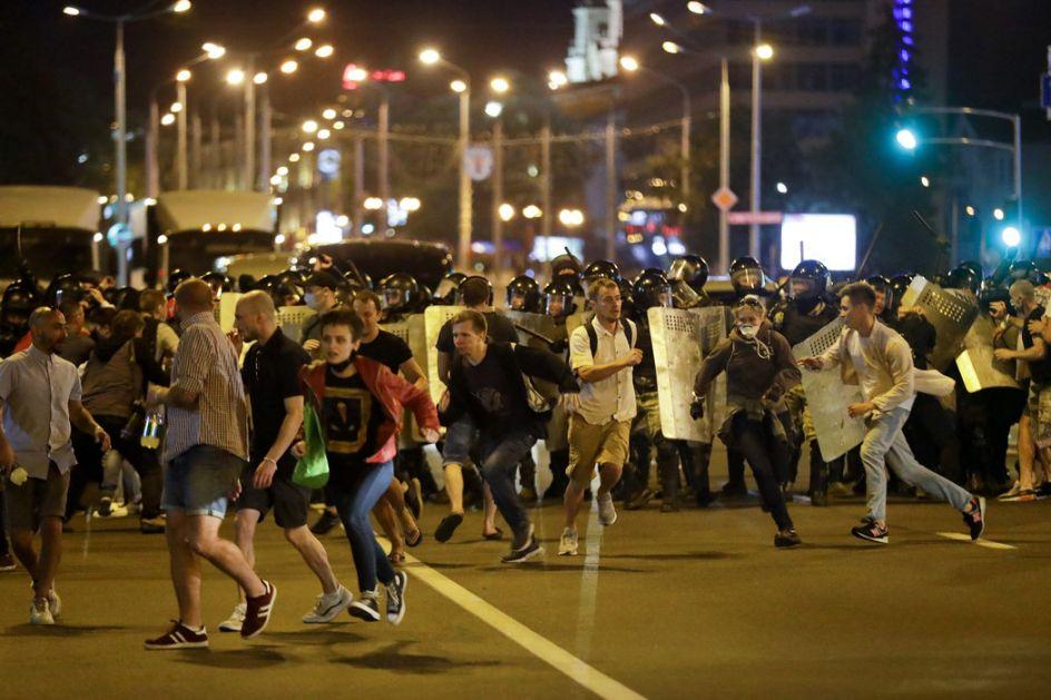 Policija zatvorila prilaze Trgu nezavisnosti u Minsku