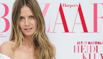 Novi trendovi: Heidi Klum bez šminke na naslovnici