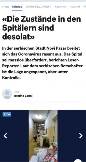Novine u Švicarskoj o krizi u Novom Pazaru