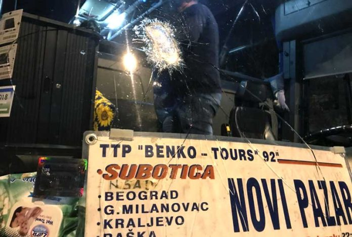 Novopazarski autobus kamenovan kod Kraljeva