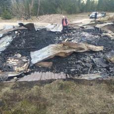 OBIJEN, PA ZAPALJEN: Objekat kod Prijepolja vredan više desetina hiljada evra izgoreo do temelja (FOTO)