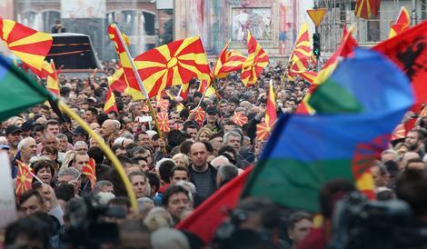 ODBACITE TIRANSKU PLATFORMU Novi protest inicijative Za zajedničku Makedoniju