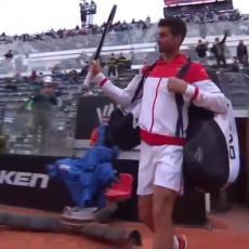 ODUŠEVLJENJE U RIMU: Novak izašao na teren - publika u DELIRIJUMU (VIDEO)