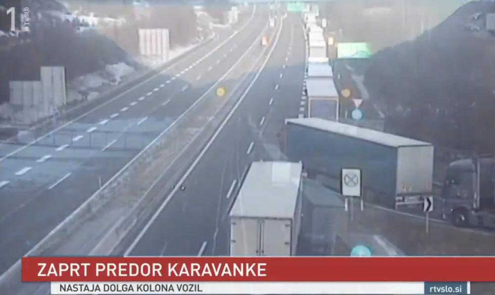 OGROMNA GUŽVA NA GRANIČNOM PRELAZU Tunel između Austrije i Slovenije zatvoren, stvorila se kilometarska kolona vozila (VIDEO)