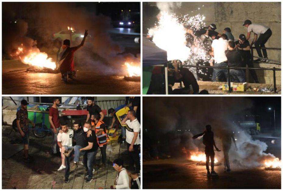 OPASNI NEREDI U JERUSALIMU, NOVI SUKOBI: Povređeno 17, mahom gumenim mecima i kamenicama! Ispred kapije Damask poljska bolnica!
