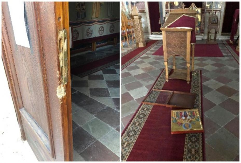 OSKRNAVLJENA PRAVOSLAVNA CRKVA U ŠIBENIKU: Ikone razbacane po podu, razvaljena vrata Hrama Svetog spasa! (FOTO)